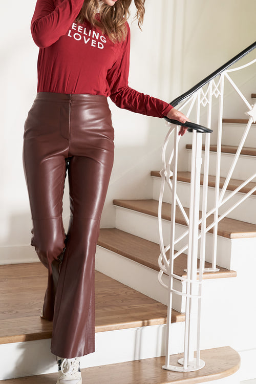 faux leather pants - sample