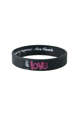 i am love silicone bracelet