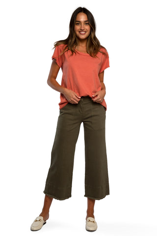 Petite French Terry High-Waist Monica Pant
