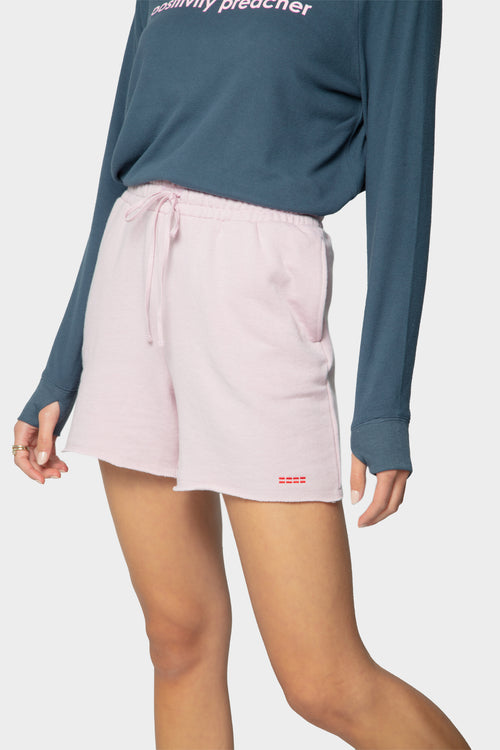 dip dye french terry shorts