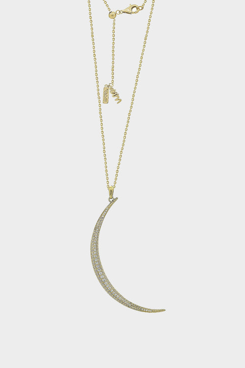 crescent pendant chain