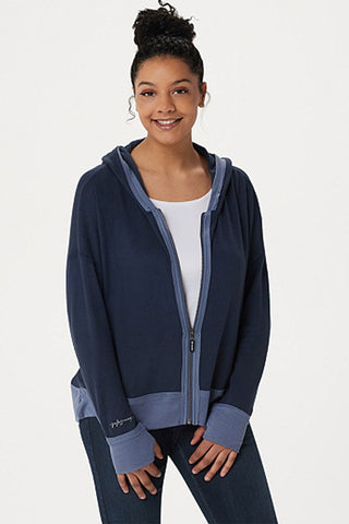 hoodie with contrast rib
