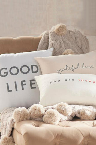 Set of Woven Affirmation Pillows