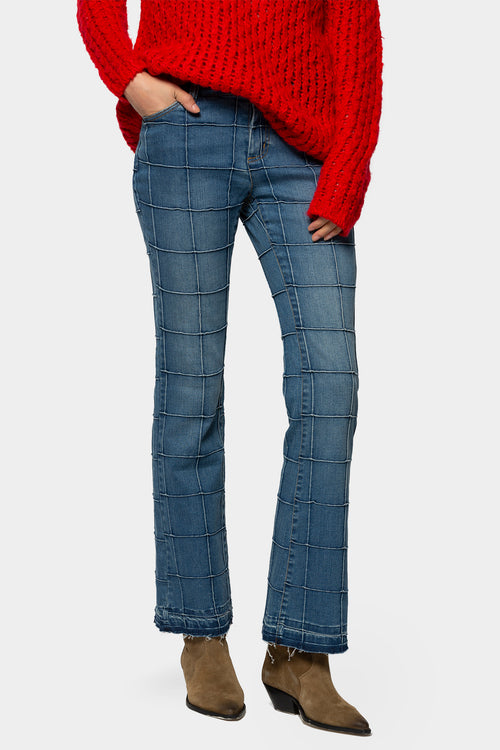 Patchwork Flare Jeans