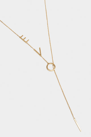 I Am Love Lariat Necklace