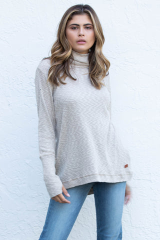 Mock Neck Comfy Knit Top