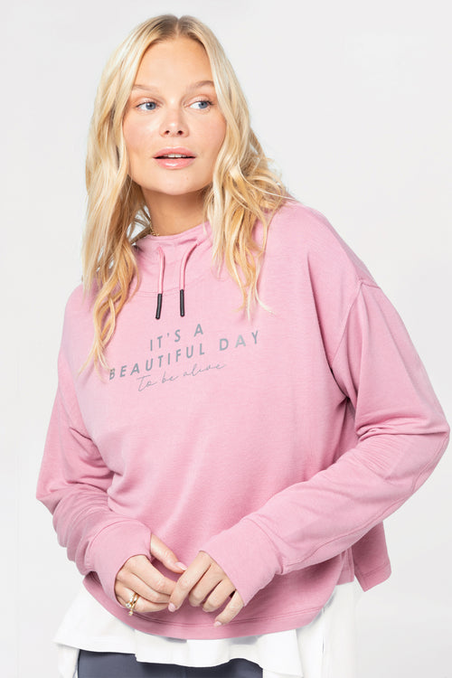 relaxed hoodie with thumbholes