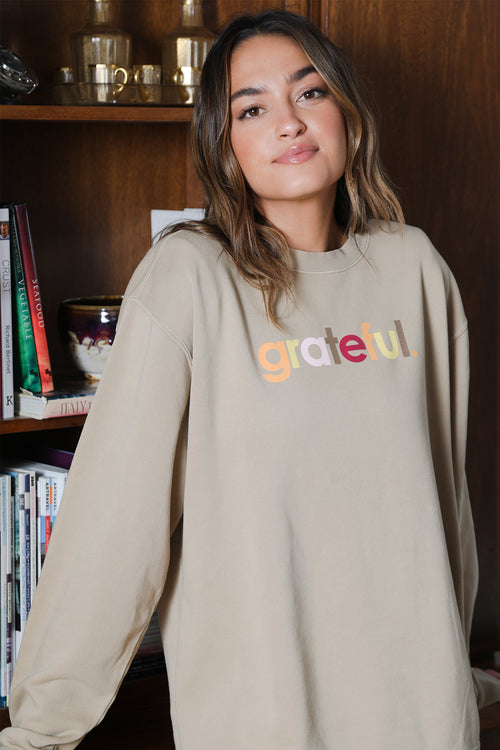 grateful crew neck sweatshirt