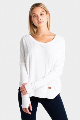 Mind Body Love Dolman Sleeve Pullover - SAMPLE