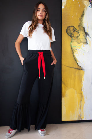 Regular Pull-On Laura Pants with Ruffle Hem