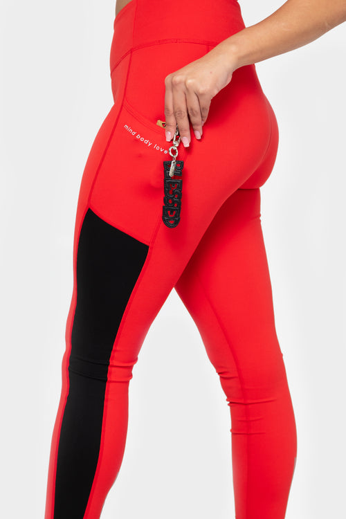 mind body love color blocked legging