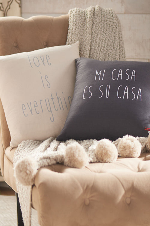 textured affirmation pillows
