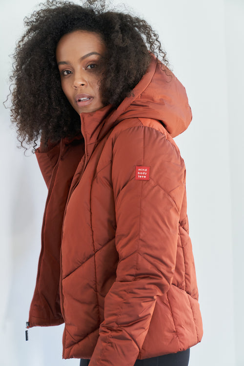 mind body love puffer jacket