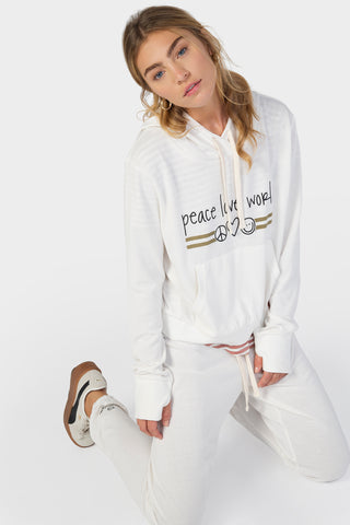 Crop Length High-Low Hem Hoodie