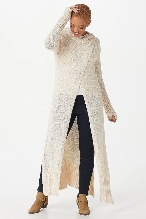 Maxi Crossover Sweater with Hood - SAMPLE