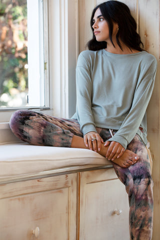 Cropped Color Blocked Legging