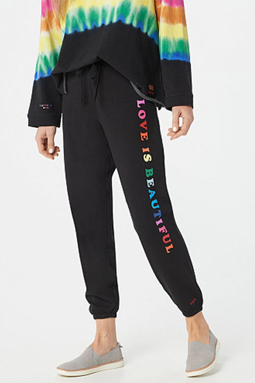 tie dye french terry jogger