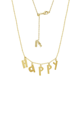 Love Initial Dangle Necklace,14K Clad