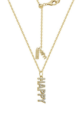 Cross Pendant w/ Chain, 14K Clad