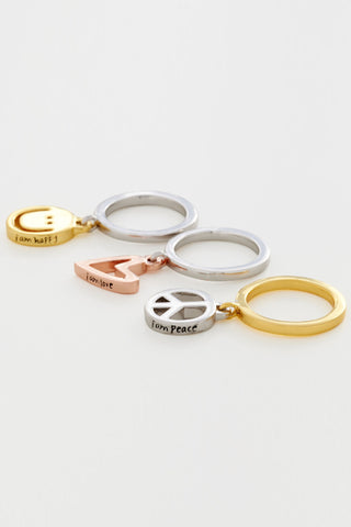 Polished Charm Ring