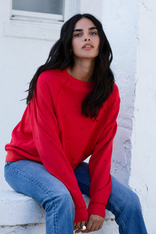 Drop-Shoulder Crew-Neck Sweatshirt