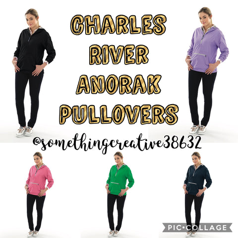 Charles River Anorak Pullovers (Ladies)-Solid Colors