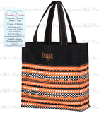 Personalized Halloween Stripe Totes