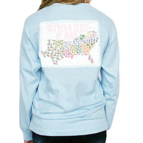 Powder Blue Southern State of Mind Southern Girl Prep