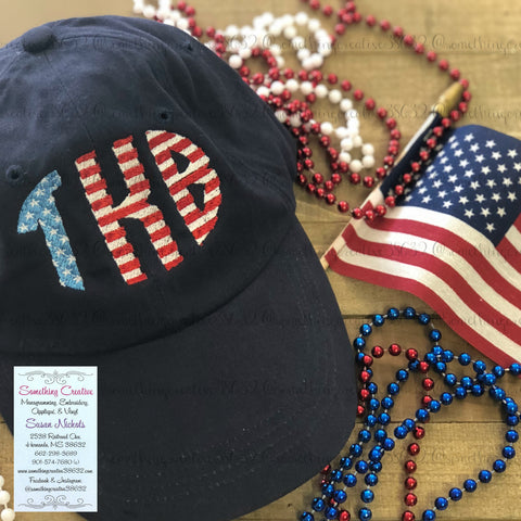 Stars & Stripes Monogram 6-Panel Hat