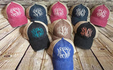 Monogrammed Royal & Tan Ollie Hat