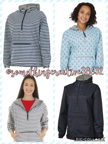 Charles River Anorak Pullovers (Ladies)- Prints