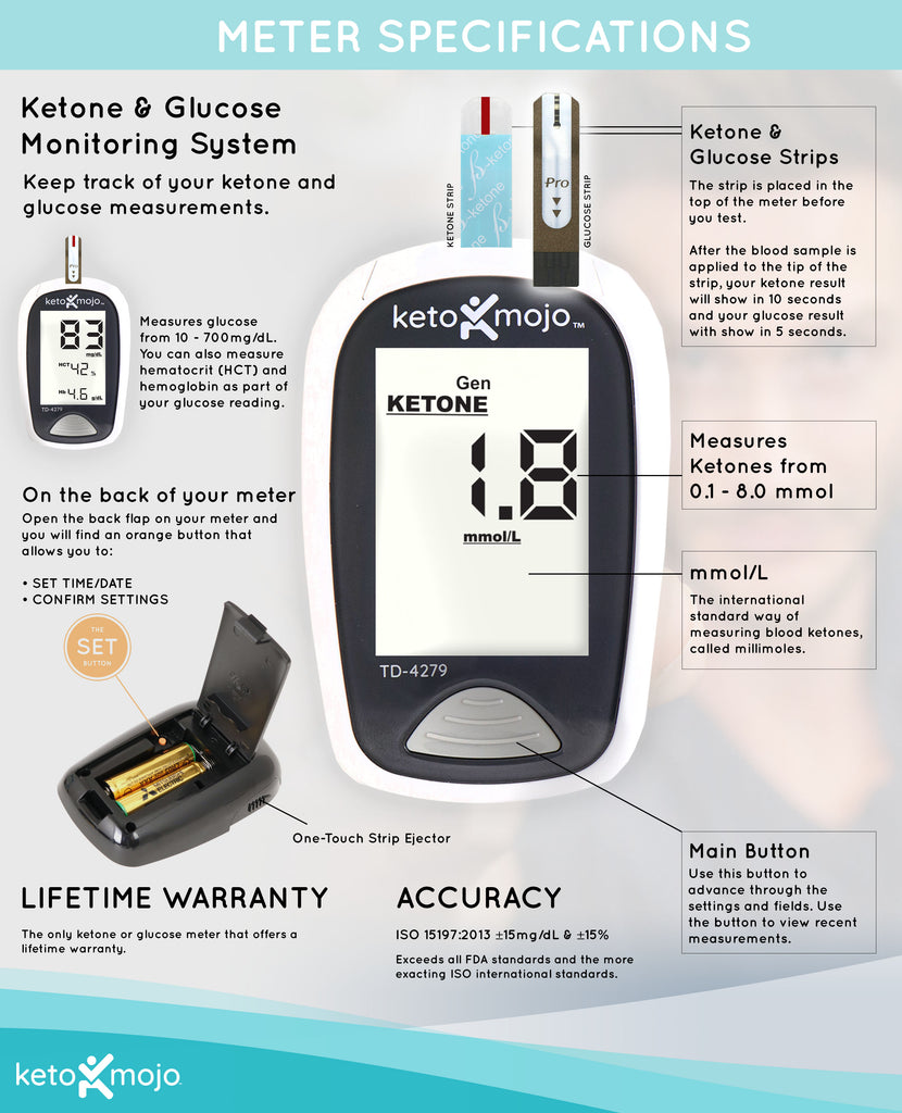 ketone and glucose meter specifications