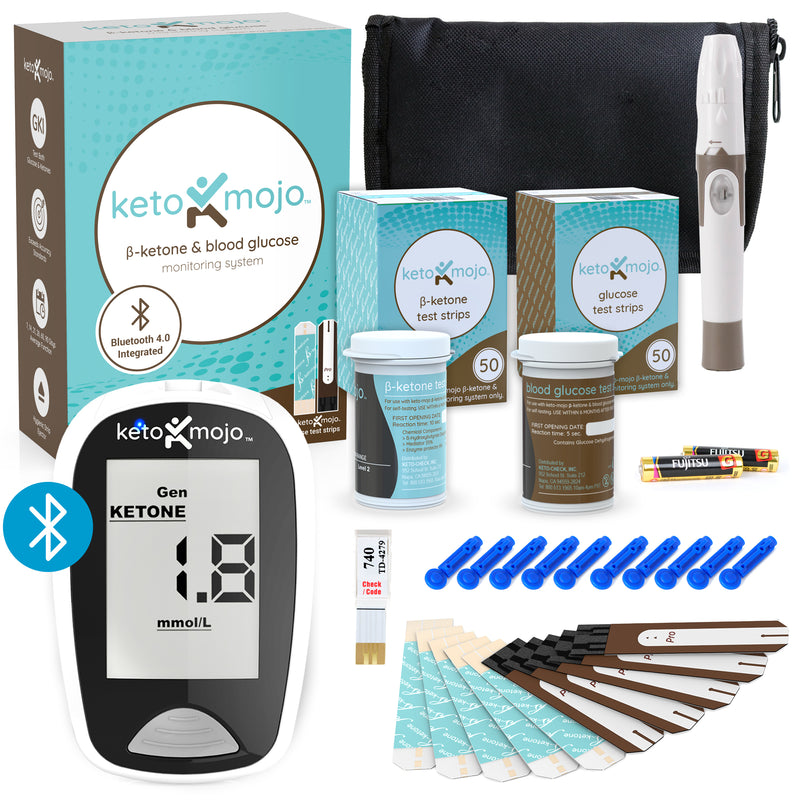 Keto-Mojo Bluetooth Meter Kit - Promo Bundle