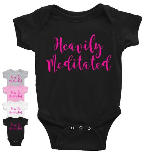 Heavily Meditated Infant Bodysuit w/ Pink