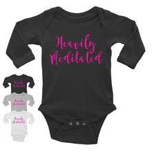 Heavily Meditated Infant Long Sleeve Bodysuit w/ Pink