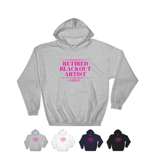 Retired Blackout Artist Unisex Relaxed Hooded Sweatshirt w/ Pink