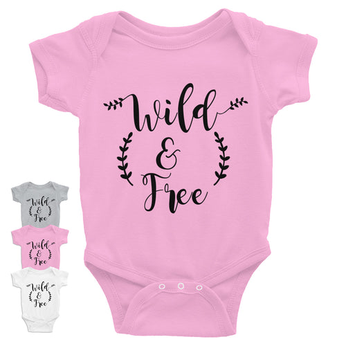 Wild & Free Infant Bodysuit w/Black