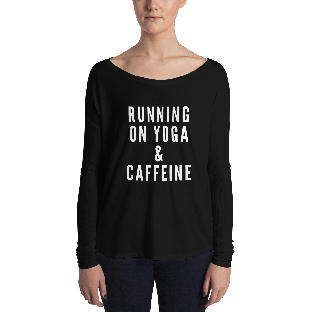 Yoga & Caffeine Bella Long Sleeve Tee