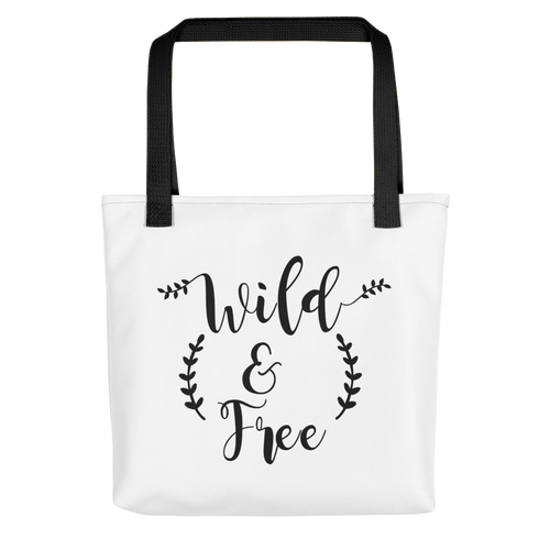 Wild & Free Tote bag w/ Black