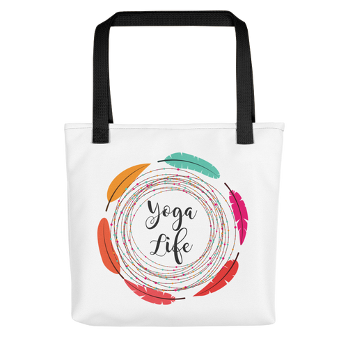 Yoga Life Tote bag w/ Feathers