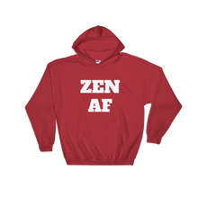 Zen AF Unisex Relaxed Hooded Sweatshirt w/ White