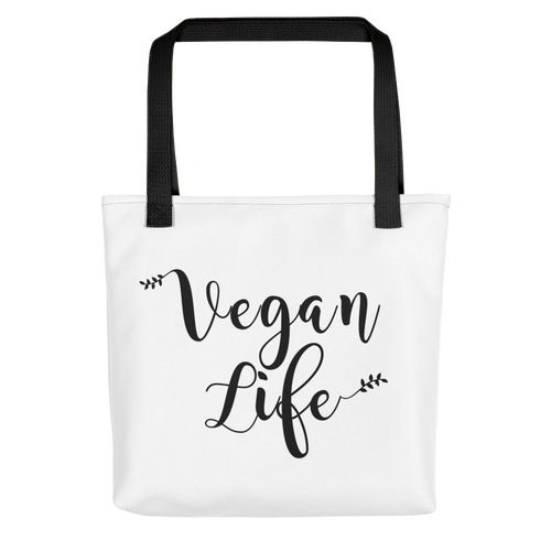 Vegan Life Tote bag w/ Black