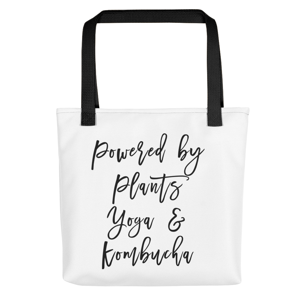 Powered By Plants Tote bag w/ Black