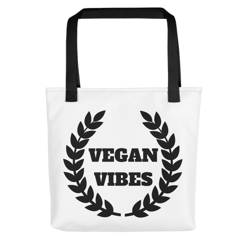 Vegan Vibes Tote bag w/ Black
