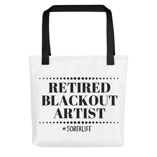 Retired Blackout Artist Tote bag w/ Black