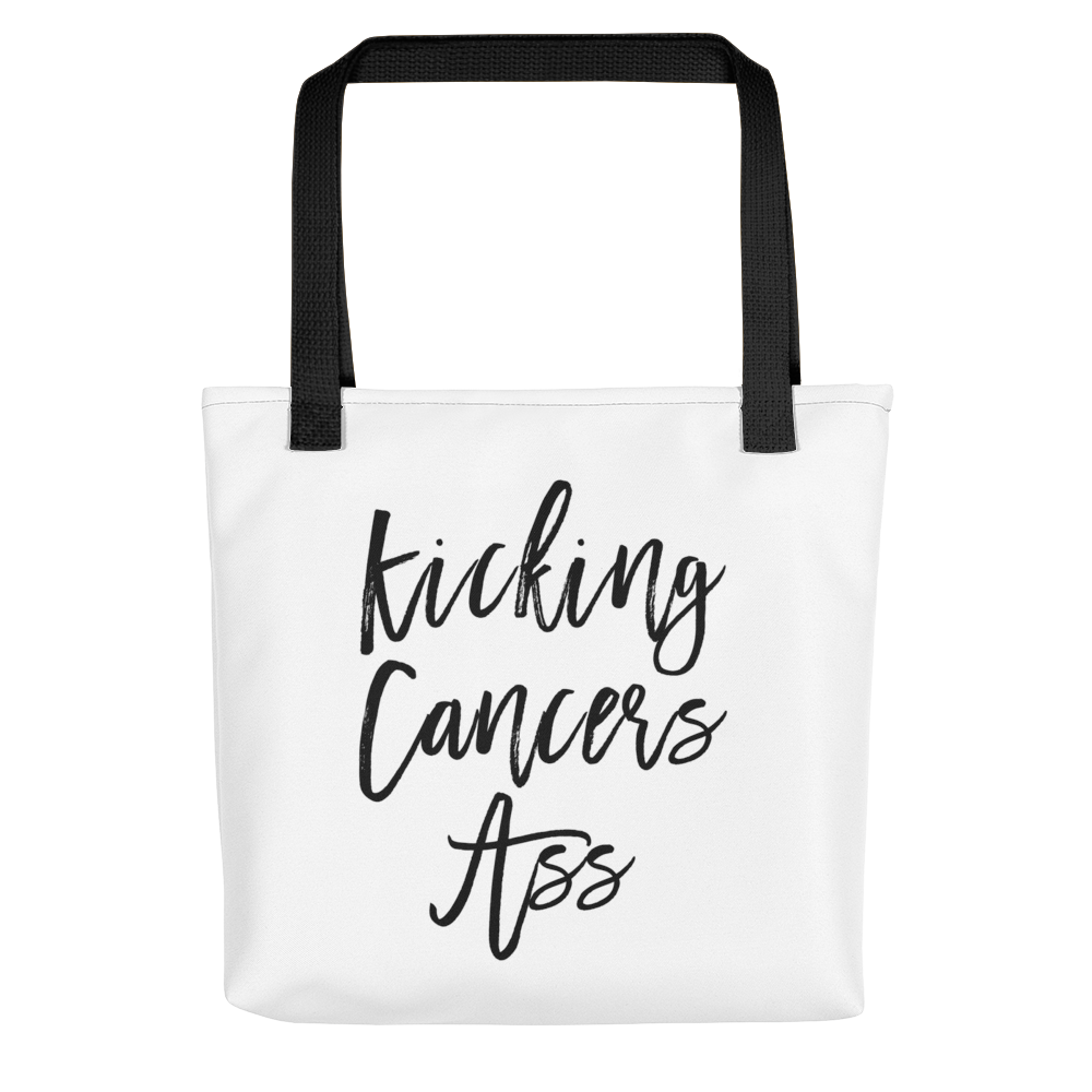 Kicking Cancers Ass Tote bag w/ Black