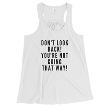 Don't Look Back Bella Flowy Racerback Tank w/ White