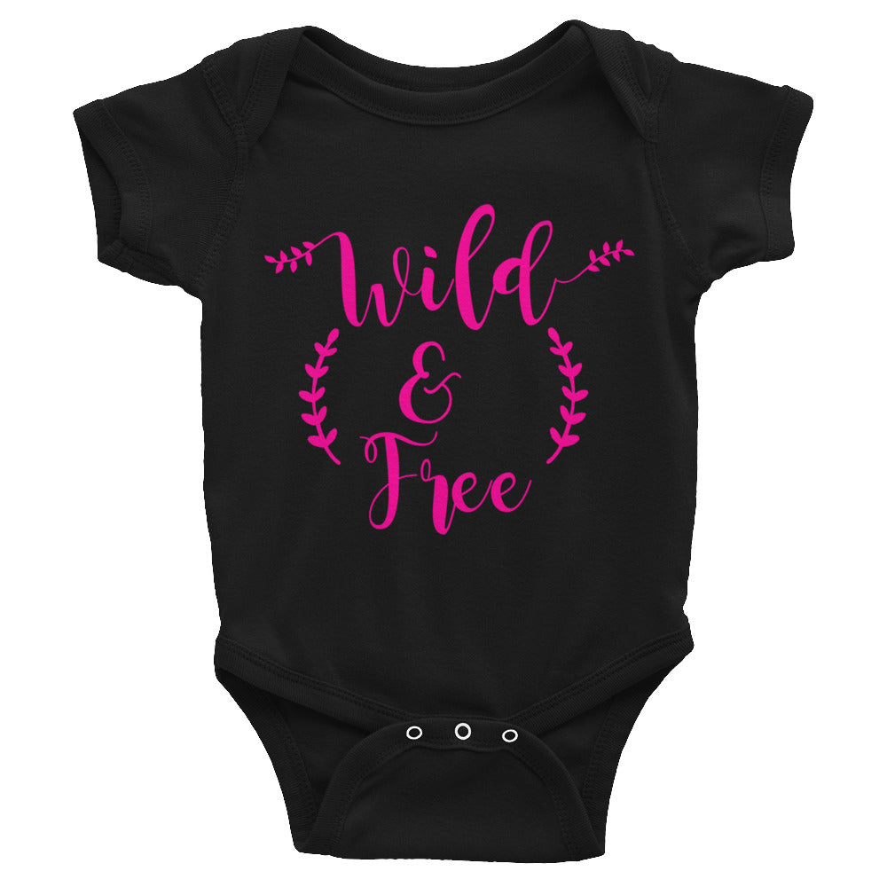 Wild & Free Infant Bodysuit w/Pink