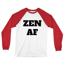 Zen AF Long Sleeve Baseball T-Shirt w/ Black