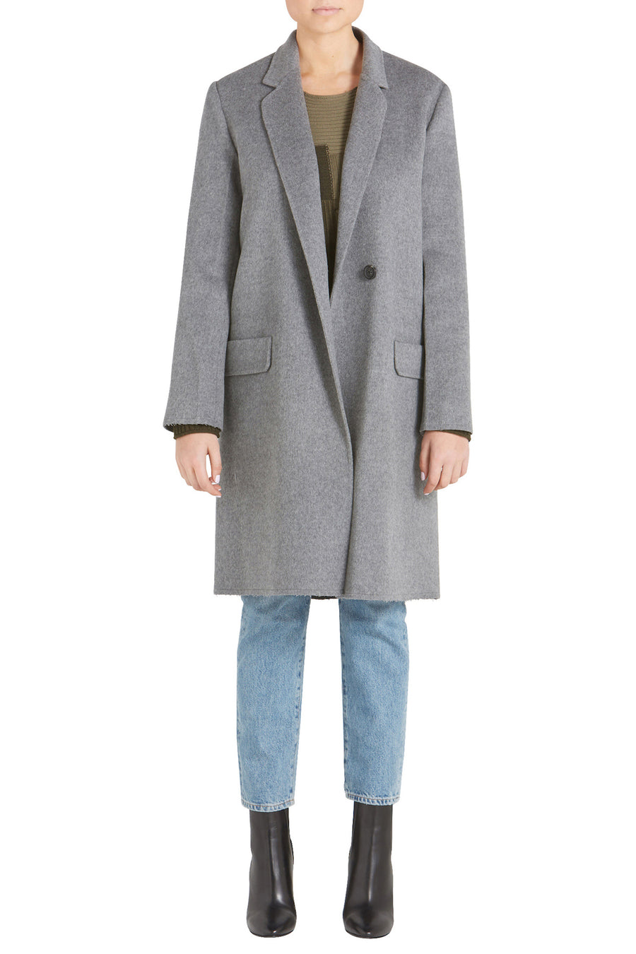 DOUBLE FACE WOOL BLAZER COAT